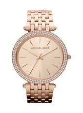 MK3192 Darci 39mm Rose Gold Ladies Watch with Crystals