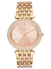 MK3507 Darci 39mm Rose Gold Ladies Watch with Crystals