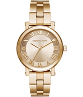 MK3560 Norie 38mm Gold ladies watch with gold steel bracelet
