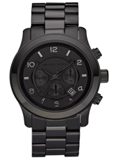 MK8157 Runway XL 45mm All Black Chronograph with Date