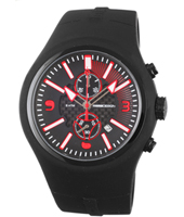MD1009BKRBB-04B MD1009 Mirage  46.50mm Black & red chrono with date