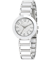 R0153103501 Firenze Silver ladies watch with ceramics
