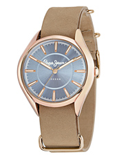 R2351101501 Alice 38mm Rose Gold Ladies Watch With A Continuous Beige Leather Strap