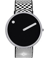 43370-P  40mm Black & steel design watch witch extra silicone strap
