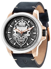 PL14385JSRS-57 Reaper 48mm Rose gold watch with embossed skull dial