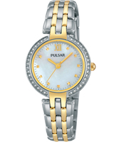 PH8166X1  28mm Bicolor Ladies Watch with Mother of Pearl Dial