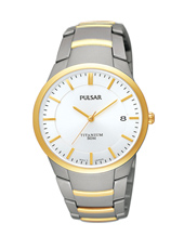 PS9008X1  36.50mm Titanium & Gold Gents Watch with Date