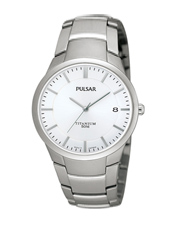PS9009X1  36.50mm Titanium & White Gents Watch with Date