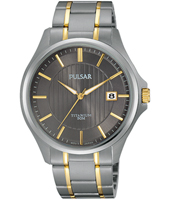 PS9429X1  40mm Bicolor Titanium Gents Watch with Date