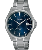 PS9433X1  40mm Titanium Gents watch with Date