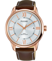 PS9472X1  42mm Rose gold gents watch with date