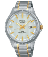 PX3047X1  42mm Bicolor Solar Gents Watch with Date