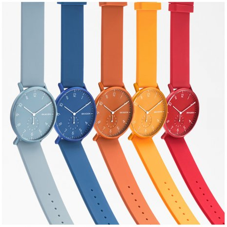 Orange Aluminum Design Watch Colecção Primavera/Verão Skagen
