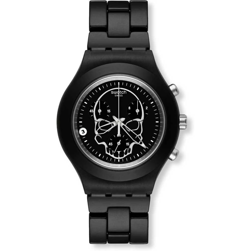 cc6954dc042 Relógio Swatch Irony SVCF4001AG Full-Blooded Black Skull • EAN ...