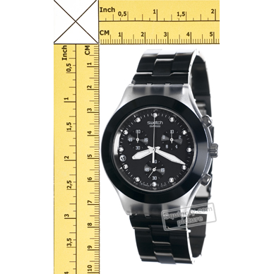 71e8a9fd7cd Swatch Full-Blooded Night relógio. Swatch relógio 2009. Swatch relógio preto
