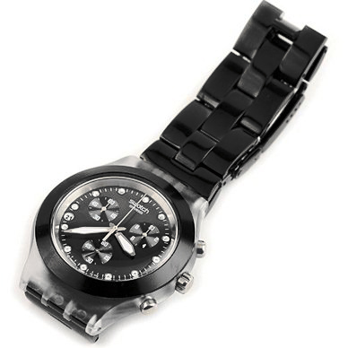 cfbda862264 Swatch Full-Blooded Night relógio. Swatch relógio 2007. Swatch relógio preto