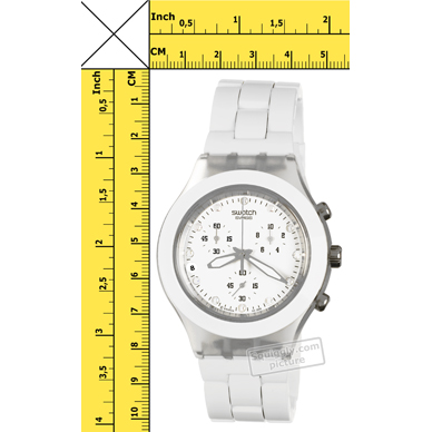 2ce9e5ed0b2 Swatch Full-Blooded White relógio. Swatch relógio 2010. Swatch relógio  branco