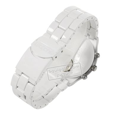 3024336840b Swatch Full-Blooded White relógio. Swatch relógio 2010. Swatch relógio  branco. relógio Quartz Chronograph