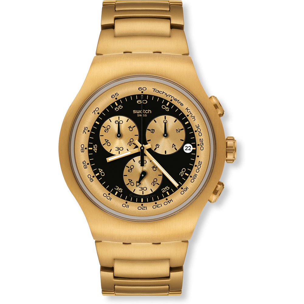 11db2bc7320 Relógio Swatch Irony YOG403G Golden Block Black • EAN  7610522285248 ...
