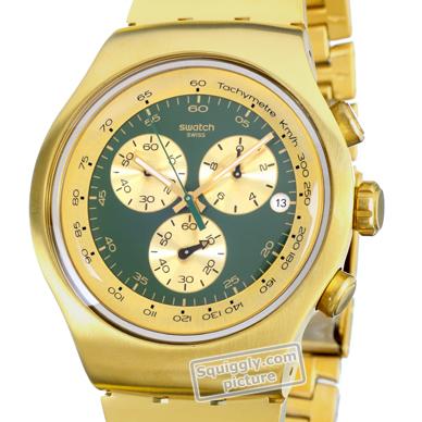 e9244ea20b6 Relógio Swatch Irony YOG406G Golden Block Green • EAN  7610522285262 ...