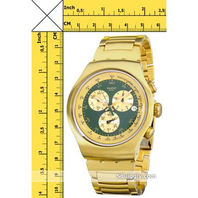 574af97c1bb Swatch Golden Block Green relógio. Swatch relógio 2012. Swatch relógio Ouro