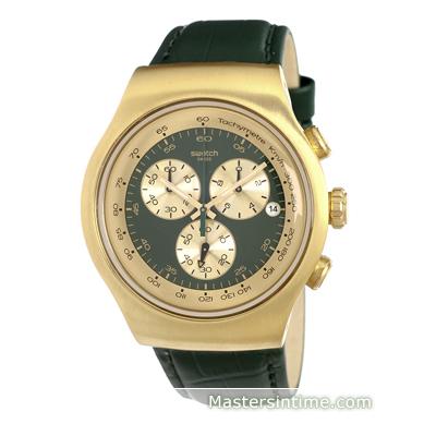78bd505c09f Relógio Swatch Irony YOG406 Golden Hide Green • EAN  7610522285484 ...