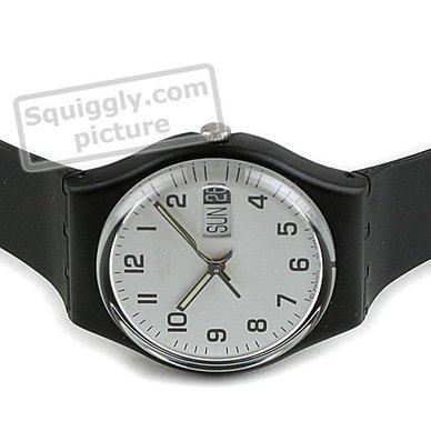 21f0ccdd6ff relógio preto Quartz. Standard Size Watch Colecção Outono Inverno Swatch