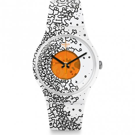 Swatch Orange Pusher relógio
