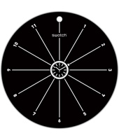 S829000004 Popwalli Black 270mm Wall clock base for POP Swatch