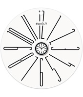 S829000003 Popwalli White 270mm Wall clock base for POP Swatch