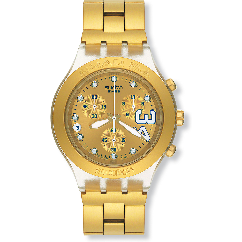 8abbbd468e3 Relógio Swatch Irony SVCK4008G Shaq 34 Gold • EAN  7610522266360 ...