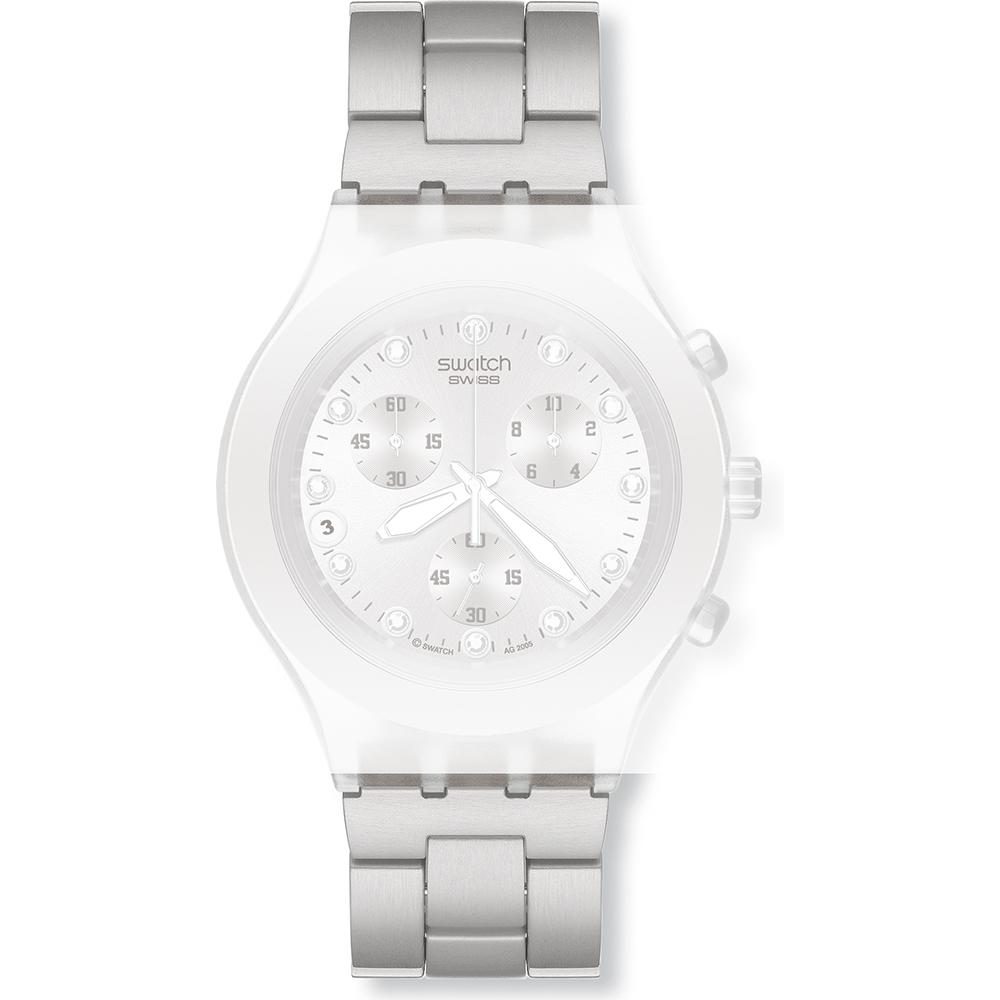 30fda7e865b Bracelete Swatch ASVCK4038G Full-Blooded Silver • Revendedor oficial ...