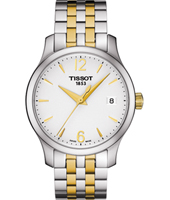 T0632102203700 Tradition 33mm Swiss BicolorLadies Watch with Date