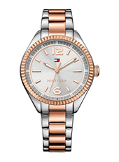 TH1781148 Chrissy 36mm Bicolor Ladies Watch With Day/Date And Stainless Steel Bracelet