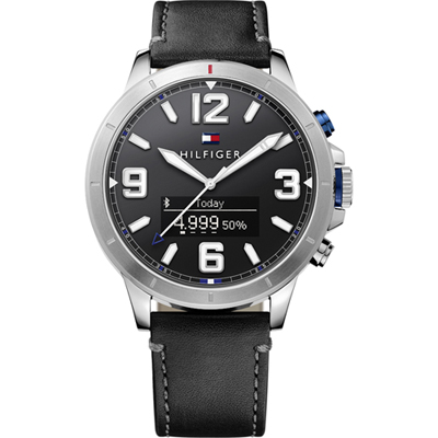 Tommy Hilfiger Jackson Smartwatch with leather strap
