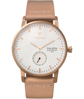 FAST101CL010614 Falken 38mm Rose gold watch with beige leather strap