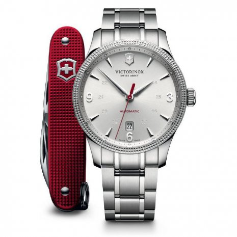 Swiss Automatic Gents Watch with Date and Victorinox Pocketknife Colecção Outono/Inverno Victorinox Swiss Army